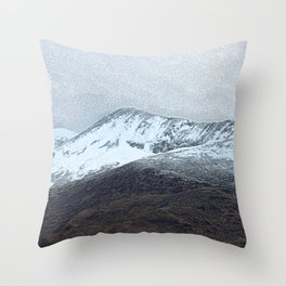 Off in the crouching mountains. Scotland Throw Pillow