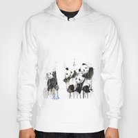 pandas Hoodies featuring Pandas by ellaclawley
