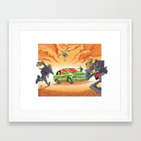 agents of shield Framed Art Prints featuring CIA Agents! by Moshik Gulst