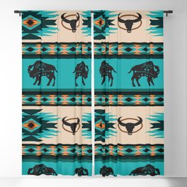 American Native Pattern No. 125 Blackout Curtain