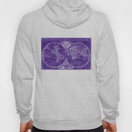 World Map (1691) Purple & White Hoody