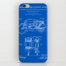 Motorcycle Sidecar Patent 1912 - Blueprint iPhone & iPod Skin
