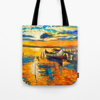 boat Tote Bags featuring Boat by BOYAN DIMITROV