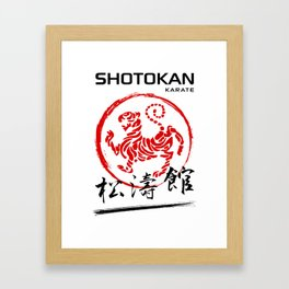 Shotokan Karate Tiger Framed Art Print