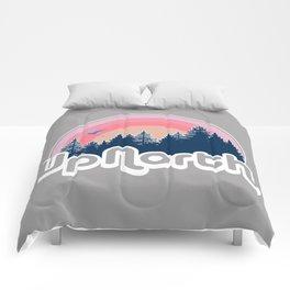 Retro Up North Sunset Comforters