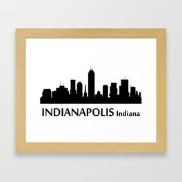 Indianapolis Indiana Cityscape Framed Art Print