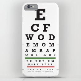 Crossfit chart iPhone Case