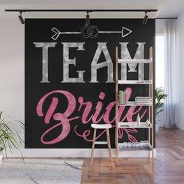 Team Bride - Bachelorette Hen Bridal Party Alcohol Wall Mural