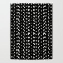 Mudcloth No.2 in Black + White Poster