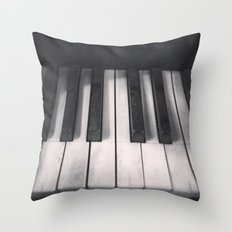 Tickle The Ivories Throw Pillow