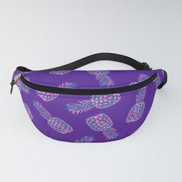 modern pink Pineapple pattern design - violet Fanny Pack