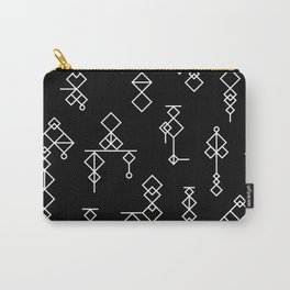 Moroccan Kilim Black Carry-All Pouch