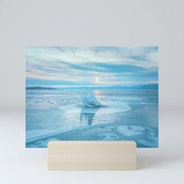 The Strange Ice Circle of Baikal Mini Art Print