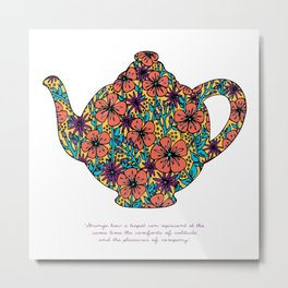 Teapot Warmth Metal Print