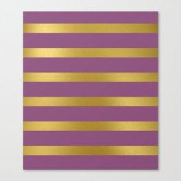 Baesic Gold & Purple Texture Shine Canvas Print