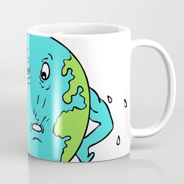 Earth Global Warming Drawing Color Coffee Mug