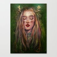 xmas Canvas Prints featuring Xmas by yen nhi