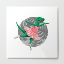 Graceful Dinosaur Metal Print
