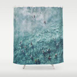 lets surf xx Shower Curtain