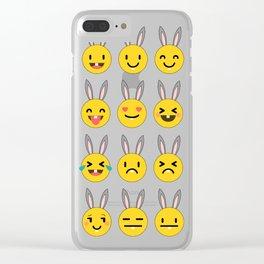 Easter Emoji Clear iPhone Case