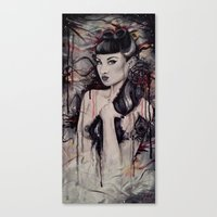 pinup Canvas Prints featuring pinup by Andreea Red