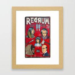 Redrum  Haircuts Framed Art Print