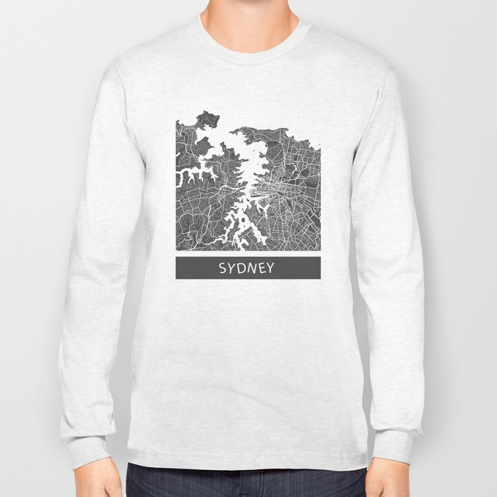 Sydney map Long Sleeve T-shirt