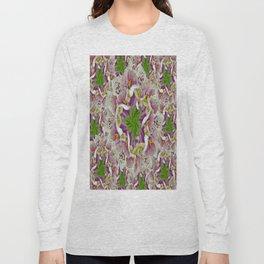 Digitalis Purpurea Flowers Long Sleeve T-shirt
