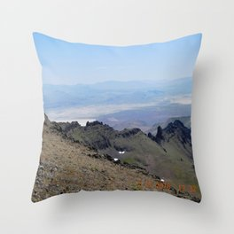 road trip, 2nd look, killer view, mountains, expanded view of same pic. Throw Pillow