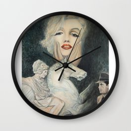 Marilyn - oh diese Männer! - Ölgemälde Wall Clock