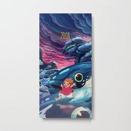 Ponyo Metal Print