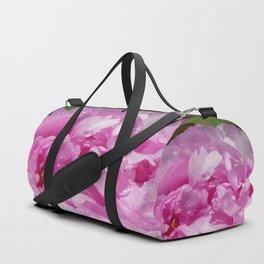 Pink Peony with Rain Drops Duffle Bag