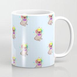 Pug dog in a clown costume pattern Coffee Mug