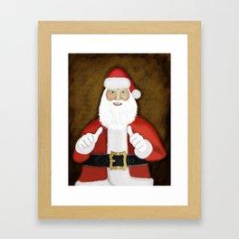 Thumbs (the Santa Claus edition) Framed Art Print