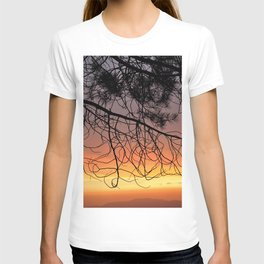 Purple Sunset At The Mountains III T-shirt