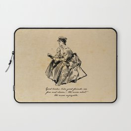 Lousia May Alcott - Good Books Laptop Sleeve