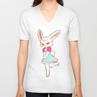 ruby V-neck T-shirts featuring Ruby by Chez_Art