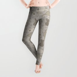 Grey and Brown Cat Stitched Mouse Vector Pattern Leggings
