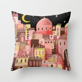 Pink Palaces Throw Pillow