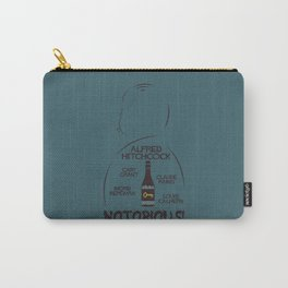 Notorious!, Alfred Htichcock, minimal movie poster, Cary Grant, Ingrid Bergman, classic cinema, film Carry-All Pouch