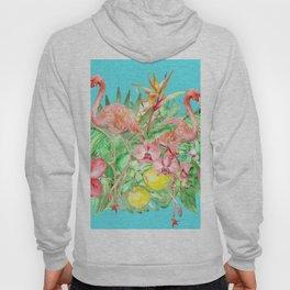 Flamingo Garden Hoody