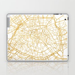 PARIS FRANCE CITY STREET MAP ART Laptop & iPad Skin