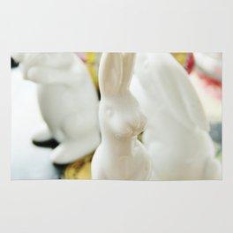 Easter bunny still life Rug