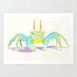 Turquoise Crab Art Print