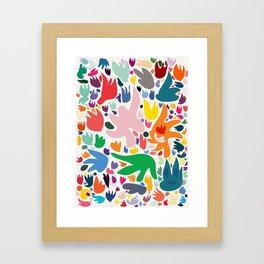 Colorful Joyful Pattern Abstract Framed Art Print