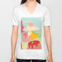 dessert V-neck T-shirts featuring Dessert by Loezelot