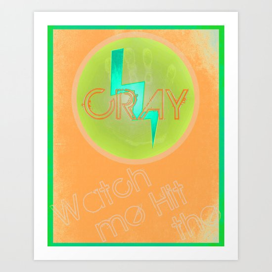 Cray Button - Citrusity Art Print