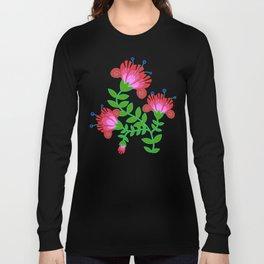 Flora De Fuego Royal Long Sleeve T-shirt