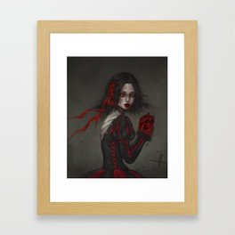 snow white hungry very hihi Framed Art Print