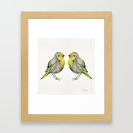 Little Yellow Birds Framed Art Print